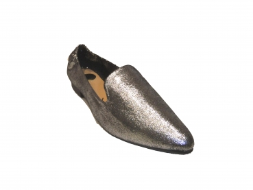 Shoes-More Buffalo Damen Slipper 327-602-24 pewter