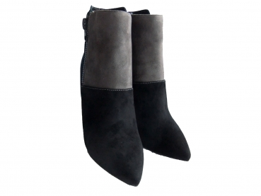 Shoes-More Buffalo Damen Stiefelette Boots B334E-50 black navy grey