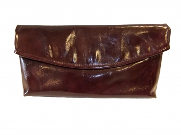 Shoes-More Estelle Damen Clutch Abendtasche Lack Optik 7230 darkviola