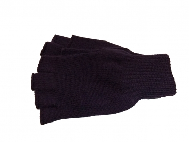 Shoes-More Mc Burn Damen Halbfinger Strick Handschuhe 89580 lila