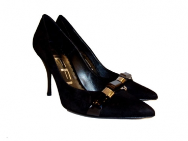 Shoes-More Tiffi Damen Pumps Velourwildleder 216-90A schwarz