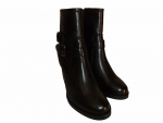 Shoes-More Buffalo Damen Stiefelette Nappa petro ES 30796-01 schwarz