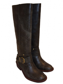 Shoes-More Buffalo Damen Stiefel Leder 8831-373 dunkelgrau