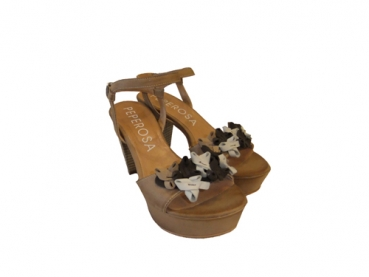 Shoes-More Peperosa Damen Sling Pumps Leder 8605/3 beige